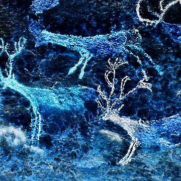 Lascaux Hall of the Bulls - Three Deer - Negative by WWestmoreland