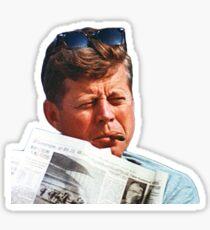 John F. Kennedy with the Cigar Sticker