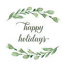 Frohe Feiertage mit Aquarellgrün von blursbyai