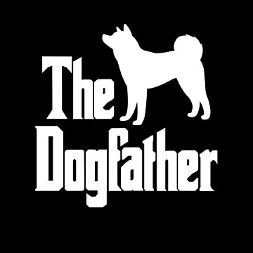 The Dogfather Akita Dog silhouette funny gift idea by HEJAshirts