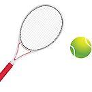 Tennisball und Schläger 4 von AnnArtshock