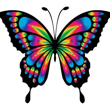 Butterfly, Prismatic by TOMSREDBUBBLE