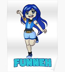 Funneh Blue Haired Gamer Poster