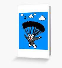 Tarjeta de felicitación Paracaidismo hurón