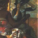 Edgar Degas French Impressionism Oil Painting Woman in Hat by jnniepce