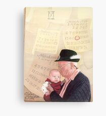 Grandpa and Grandson  Canvas Print