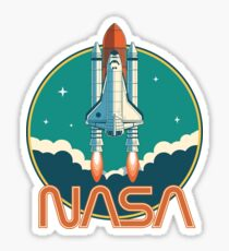 NASA Retro Space Shuttle Logo Sticker