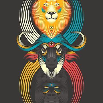 Totem der afrikanischen Tiere von PAgata