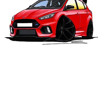 Ford Focus (Mk3) RS Limited Edition Red by yeomanscarart