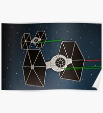 Painted TIE fighters Poster
