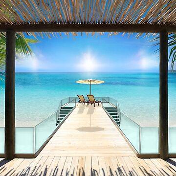 Sun Halo in the Seychelles by BrunoBeach