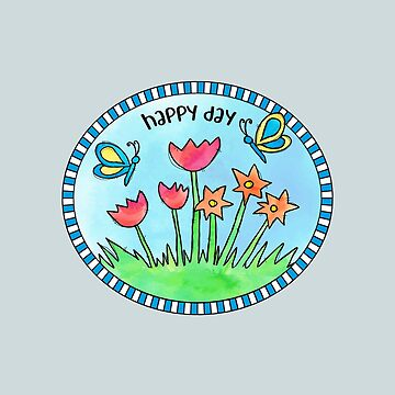 Happy Day Summer Watercolor Design by creative321
