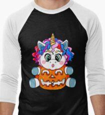Cute Halloween Unicorn T-Shirt Gift Men's Baseball ¾ T-Shirt