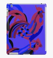 Rooster Abstract Art Blue iPad Case/Skin