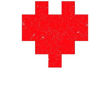 8-Bit Heart, Proudly Geeky, Nerd, Gamer, Computer by Kaiser-Designs