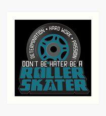Roller Skates Disco Retro Rollerblades Art Print