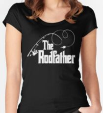The Rodfather Fishing Parody T Shirt Women's Fitted Scoop T-Shirt
