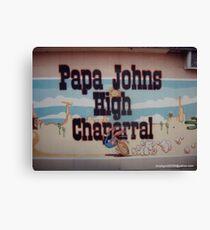 PAPA JOHN'S MURAL Canvas Print