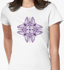 butterfly mandala - one flutter! Women's Fitted T-Shirt
