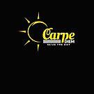 CARPE DIEM Seize The Day - Motivational Graphic Meme Sunshine design by VIDDAtees
