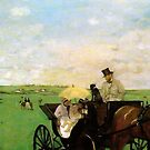 Edgar Degas French Impressionism Oil Painting Horse Buggy Carriage by jnniepce