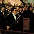 Edgar Degas French Impressionism Oil Painting Orchestra Performing at Ballet by jnniepce