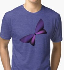 Purple Geometric Butterfly Tri-blend T-Shirt