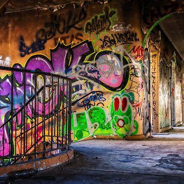 Abandoned Places Urban Graffiti by mia-scott