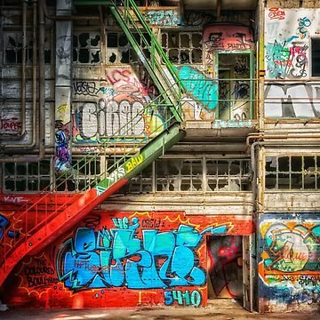 Abandoned Places Factory Graffiti by mia-scott