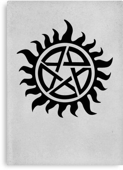 Supernatural Demon Possession Protection Black Canvas Prints By