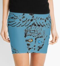 Abstract Angels Mini Skirt