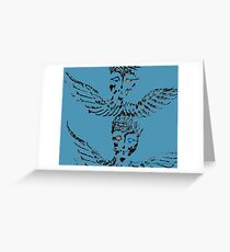 Abstract Angels Greeting Card