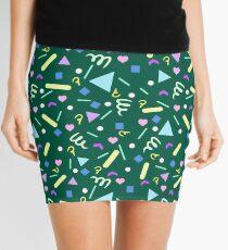 Retro Pastel Confetti in Green Mini Skirt