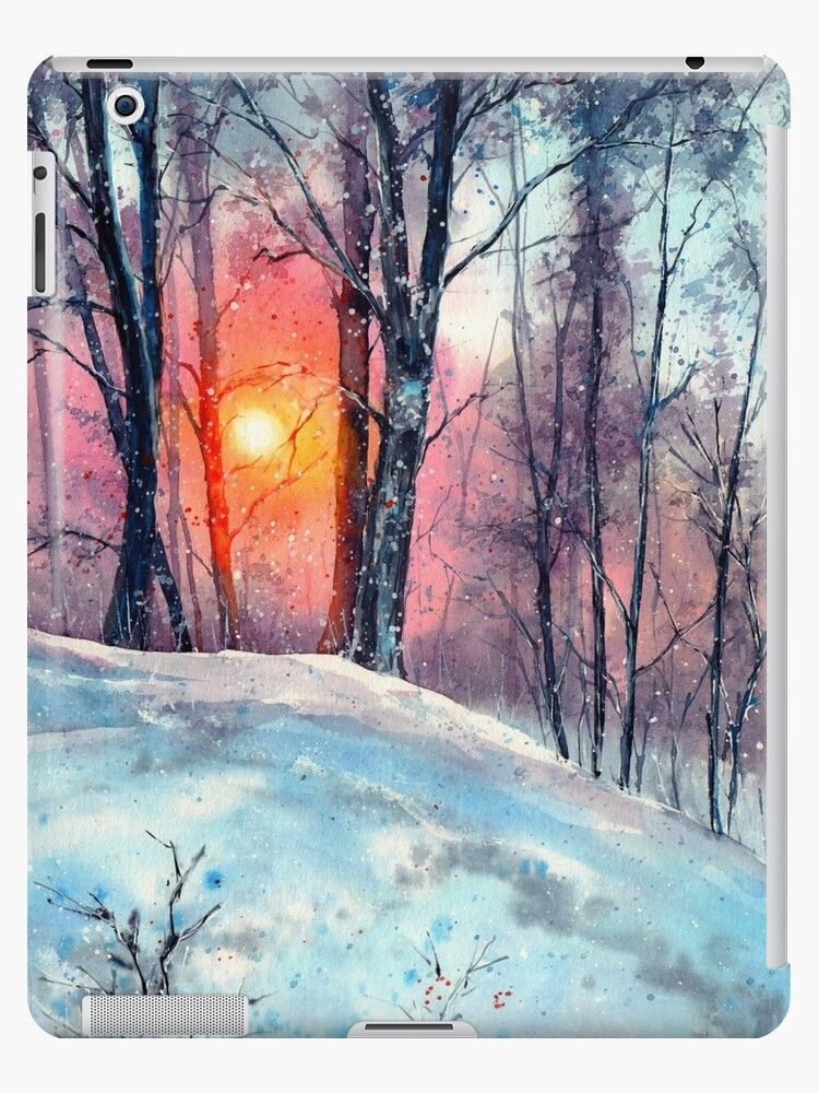 Winter Woodland In The Sun by suzannsines