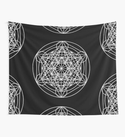 Metatron's Cube Expanded 003 Wall Tapestry
