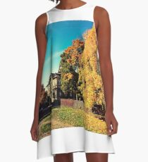 Autumn is Golden A-Line Dress