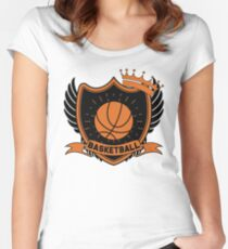 Basketball Fitted Scoop T-Shirt