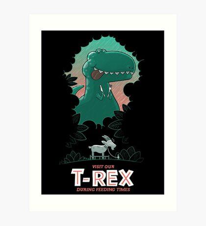 Visit our T-Rex! Art Print