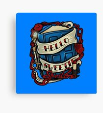 Hello Sweetie (pillow) Canvas Print