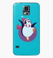 Happy Penguin With Hat and Scarf Case/Skin for Samsung Galaxy