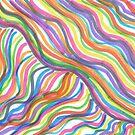 Rainbow Abstract Octopus by DanielleGensler