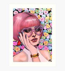 Dreamy Valentine - Love Hearts Pastel - Original Artwork by Magdelene Harper Art Print