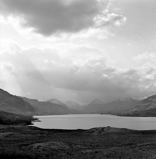 Distant Arrochar Alps by Tim Haynes