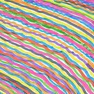 Rainbow Waves Abstract Print by DanielleGensler
