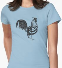 Patriotic Rooster Women's Fitted T-Shirt