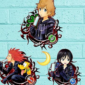 Kingdom Hearts-Roxas,Axel,and Xion toon edit by SmolYoonbum