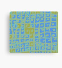 Modern Blue and Green Square Print Canvas Print