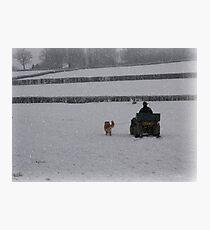 Going home for Christmas Photographic Print