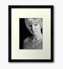 Shy And Retiring.... Framed Print