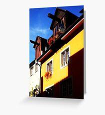 German Home in Meersburg, Germany Greeting Card